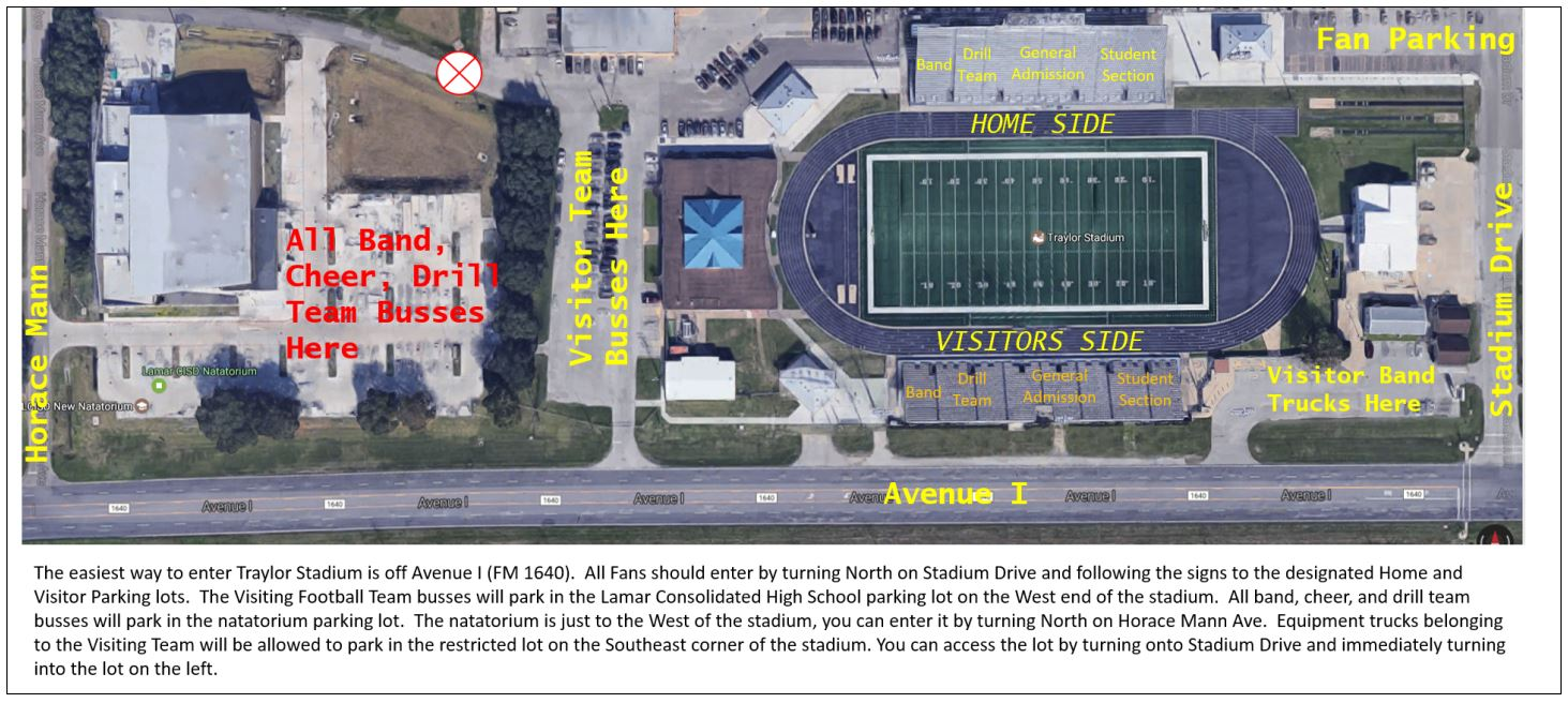 Traylor Stadium Map